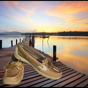 Sperry Gold Glitter Angelfish Size 7